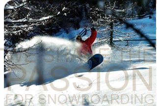 The passion for snowboarding